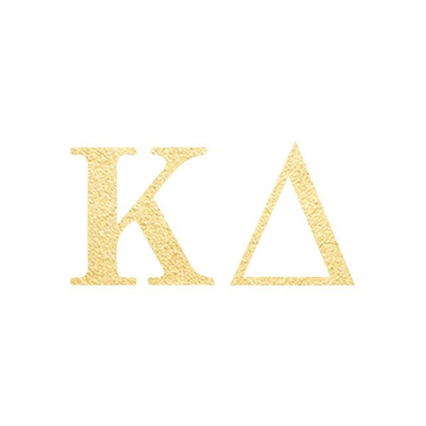 Kappa-Delta-Letters-(10 Pack)-gold-temporary-tattoo