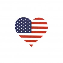 Amercian Flag Heart (10-Pack)