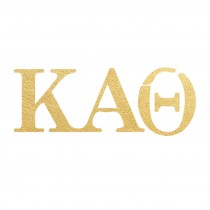 Kapppa Alpha Theta Letters (10 Pack) Gold