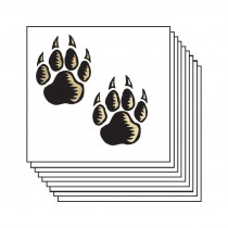 gold-black-wolf-paw-prints-20-pack