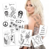 Lady Gaga Temporary Tattoos