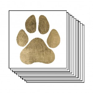 Gold Paw Print (10 pack)