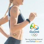 Temporary Olympic Rings Kid Tattoos as Rewards at Athletic Events