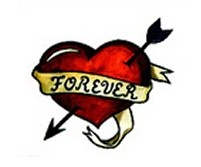 Forever Heart Temporary Tattoo