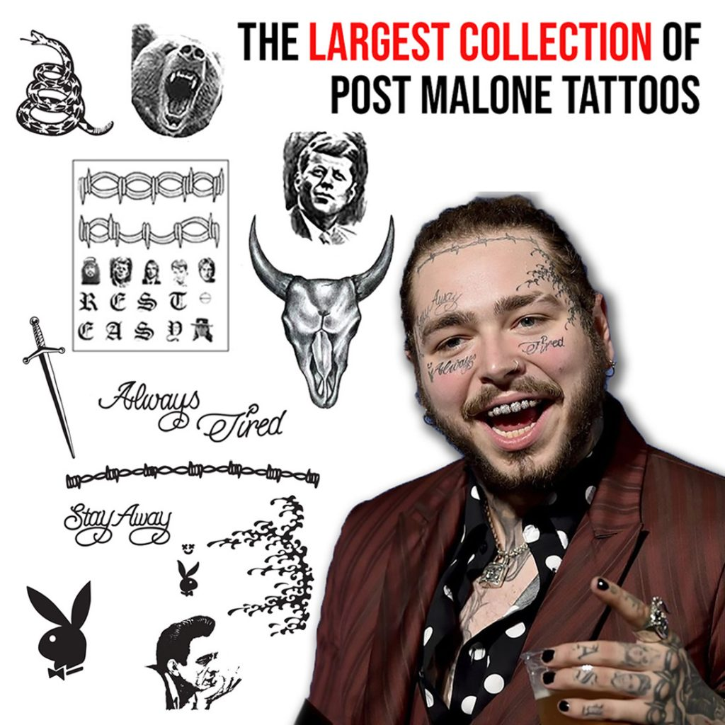 Post Malone Clip Art: Post Malone Tattoos Png