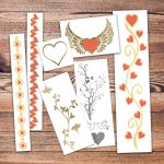 Mon Amour Valentines Temporary Tattoos