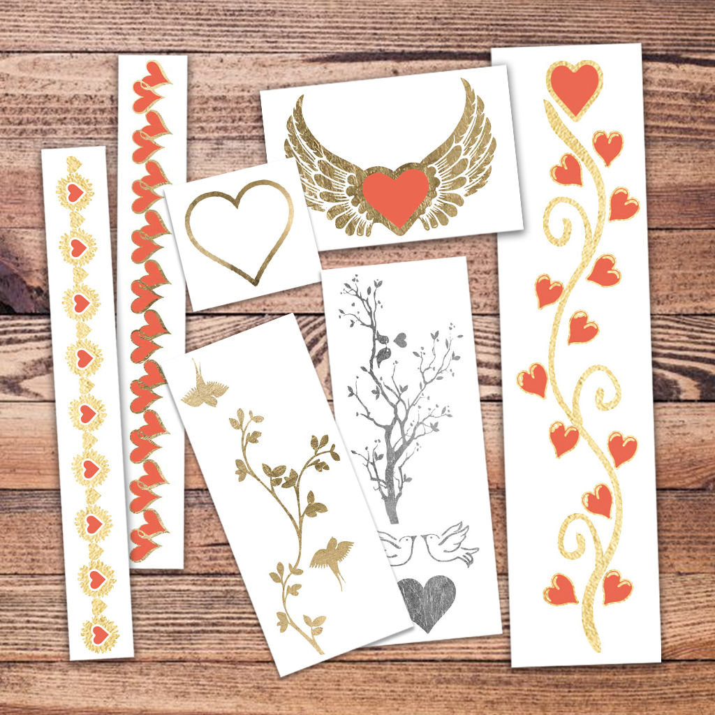 Tattoo Fun Valentines temporary tattoos- Mon Amour Pack