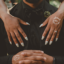 Custom Saying Wedding Temporary Tattoos