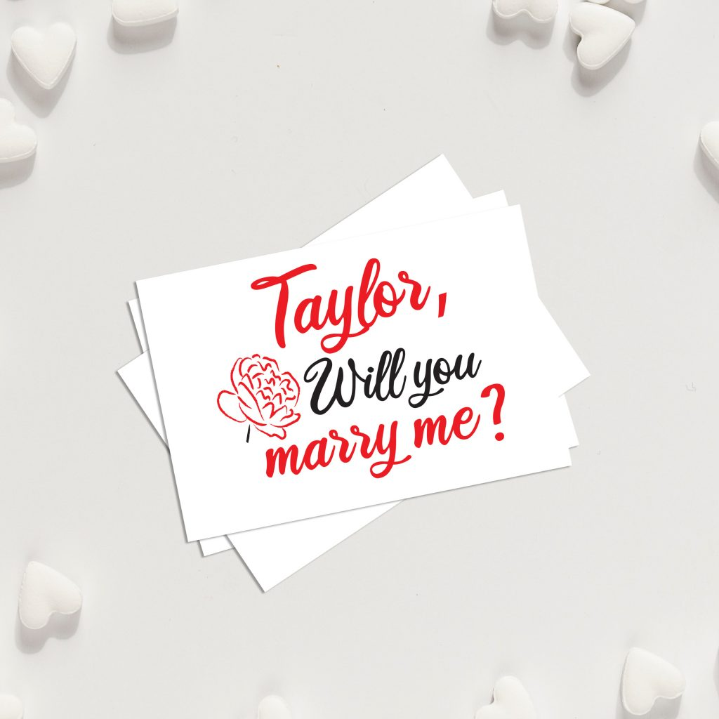 Will you marry me Custom proposal temporary tattoos