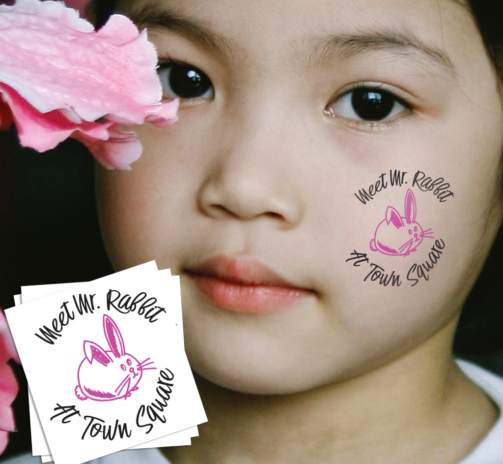 Custom Easter Temporary Tattoos for Bunny Meetings