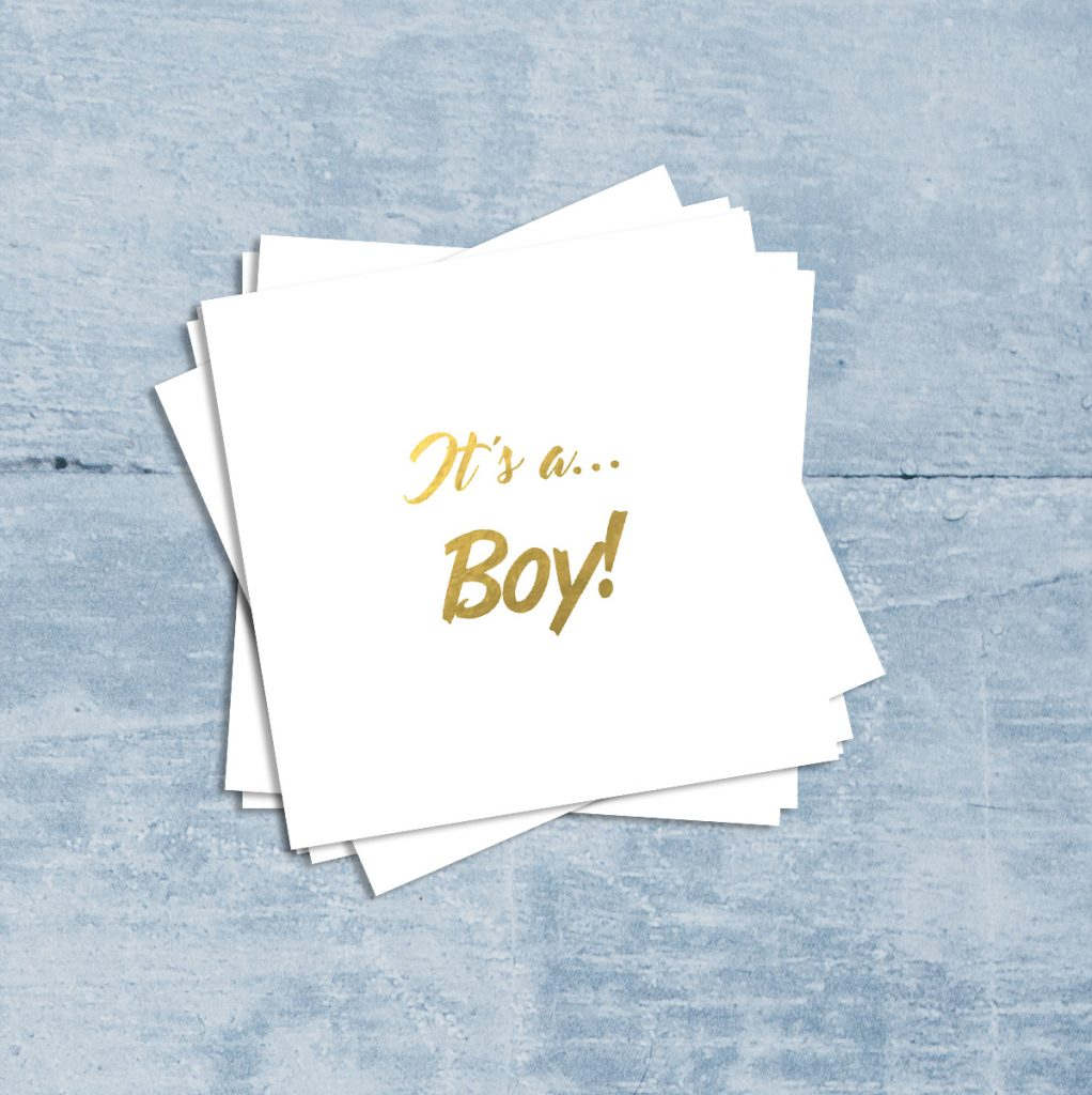 It's a Boy Baby themed temporary tattoos