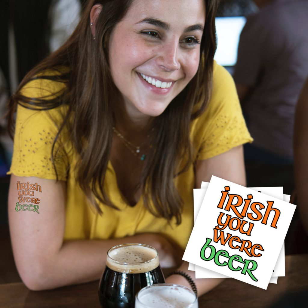 St. Patrick's Day Custom Temporary Tattoos for Breweries