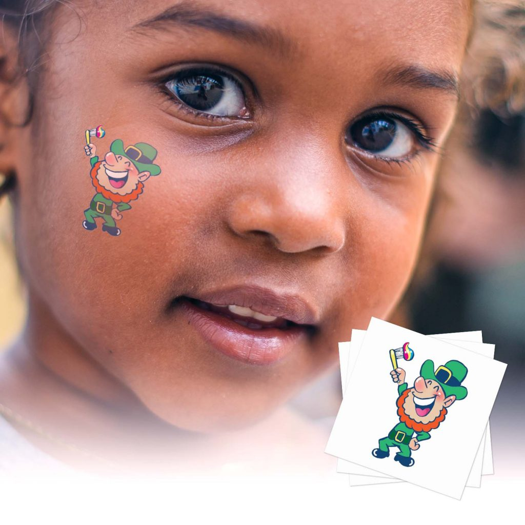 St. Patrick's Day Custom Temporary Tattoos for Businesses