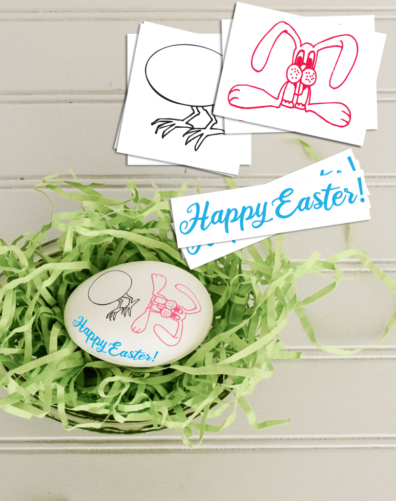 Custom Easter Temporary Tattoos for Egg Decorating