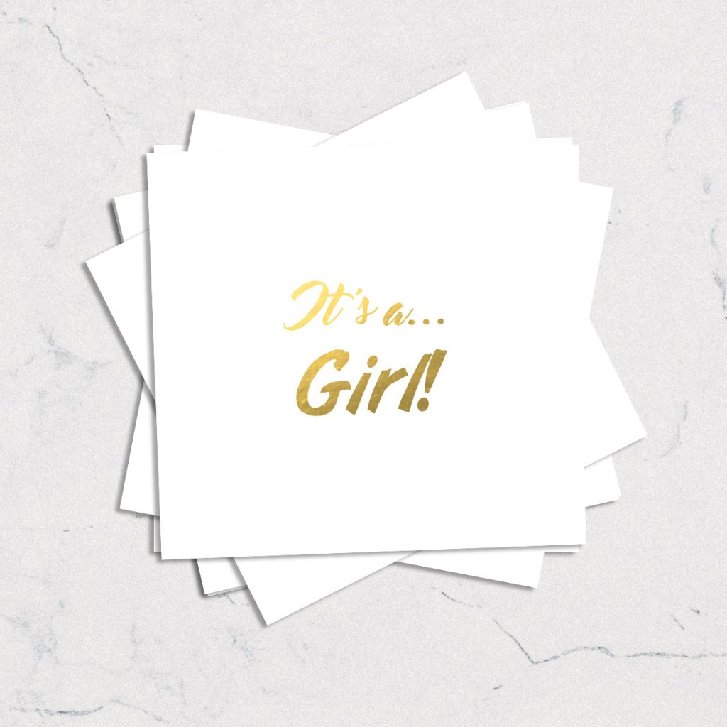 Girl Baby Themed Temporary Tattoos