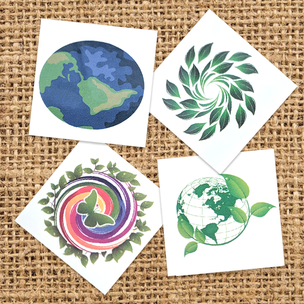 Variety Pack of Earth Day Temporary Tattoos
