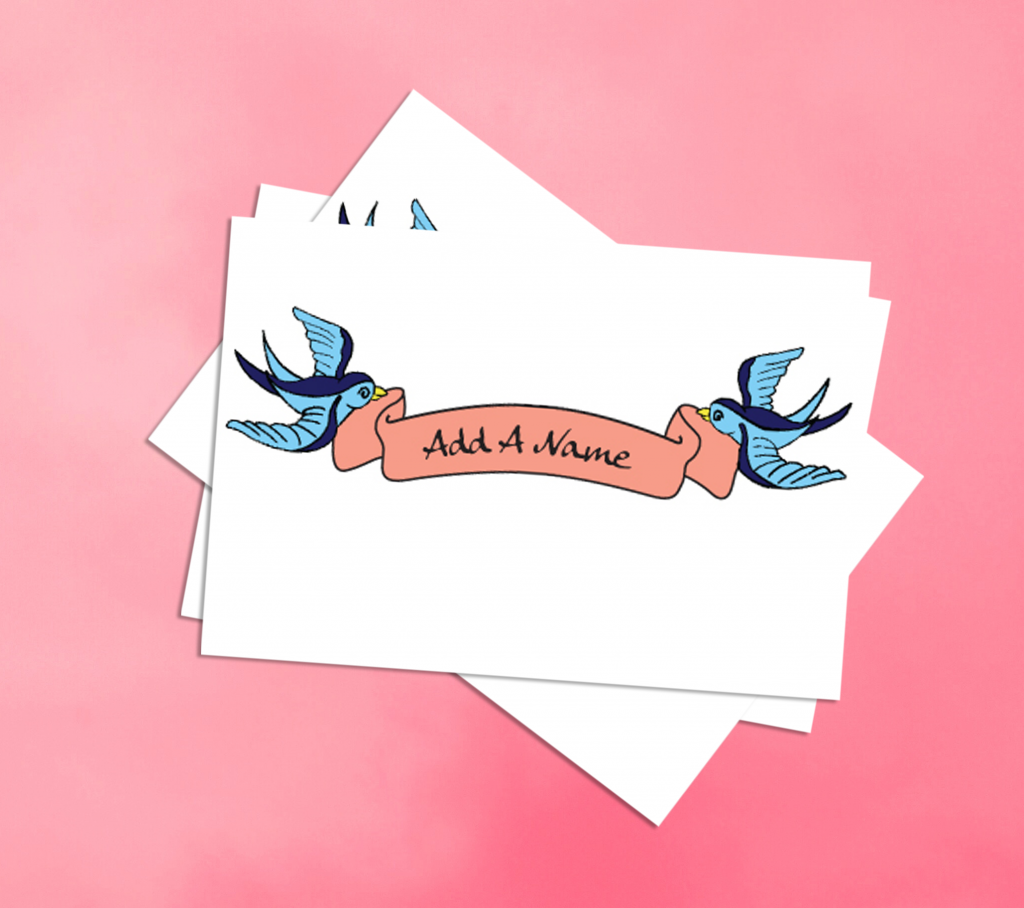 Add-a-Name Mother's Day Temporary Tattoos