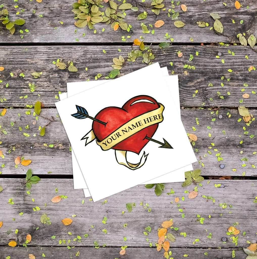 Add-A-Name Father's Day Temporary Tattoos