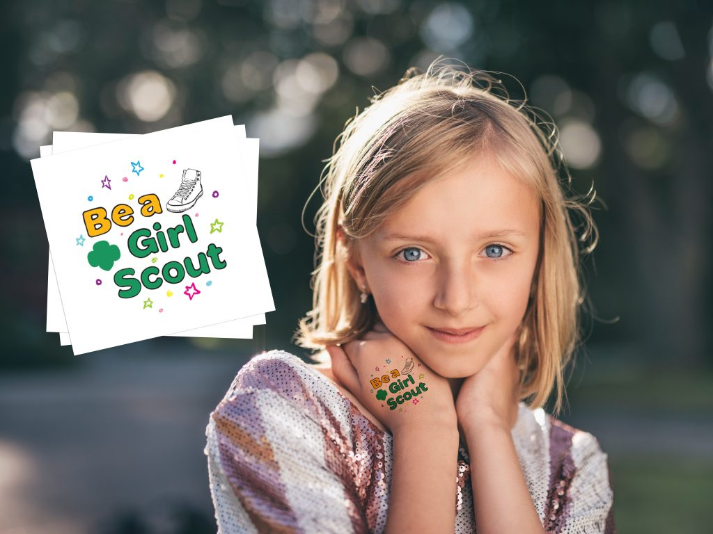Girl Scout Custom Parade Temporary Tattoos