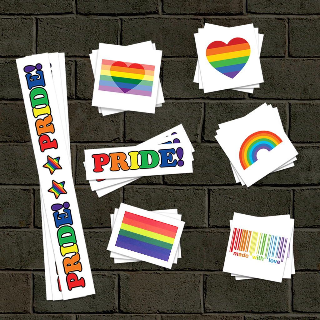 In-stock Pride temporary tattoos