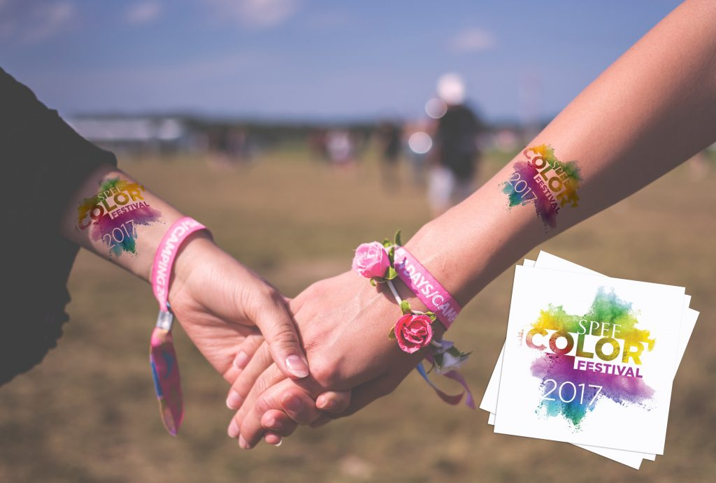 Color Festival Custom Festival Temporary Tattoos