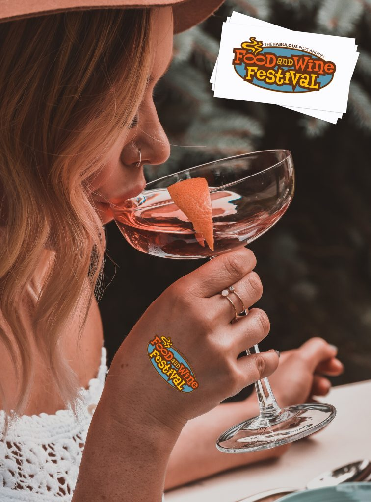 Food and Wine Festival Custom Festival Temporary Tattoos