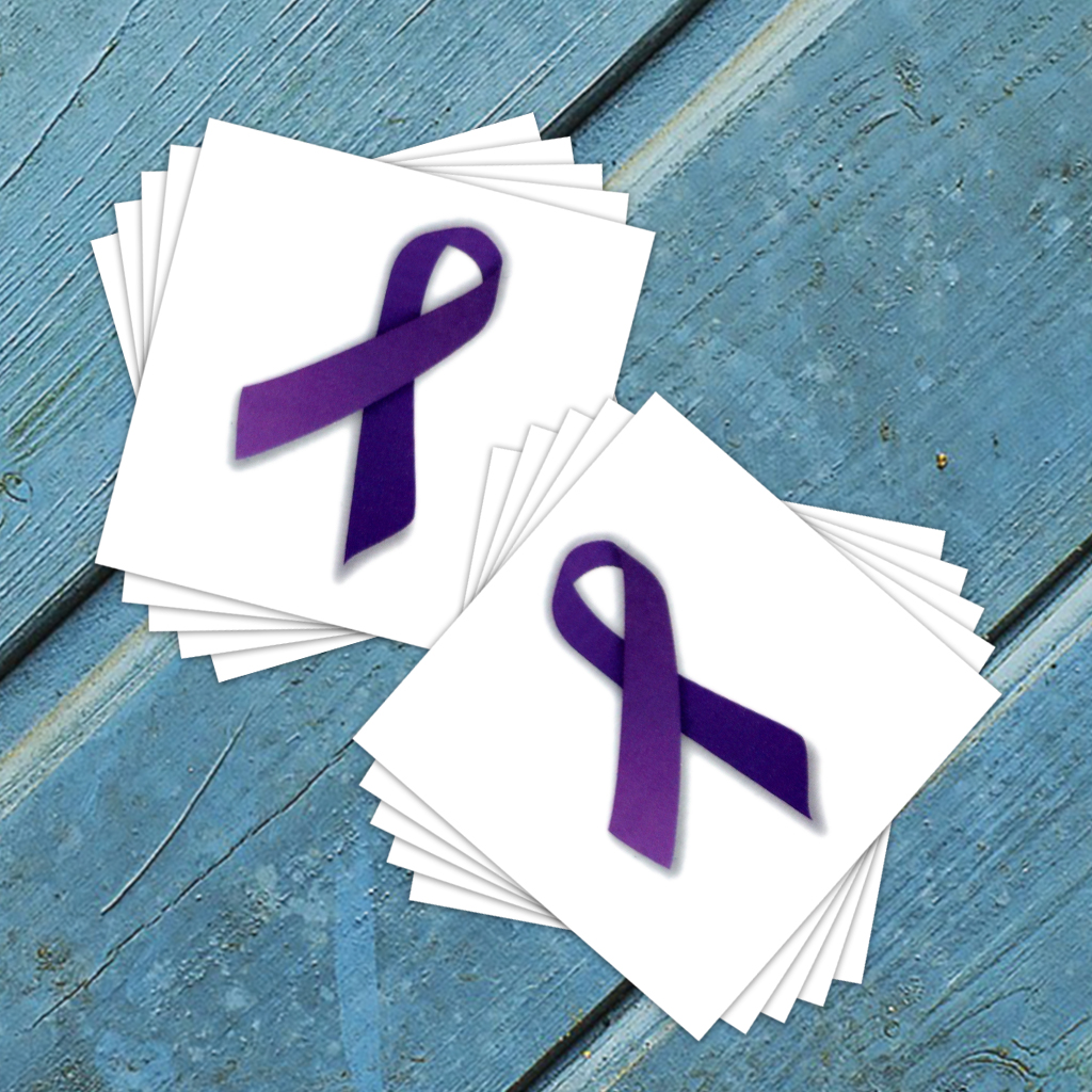 Pancreatic Cancer Benefit Temporary Tattoos