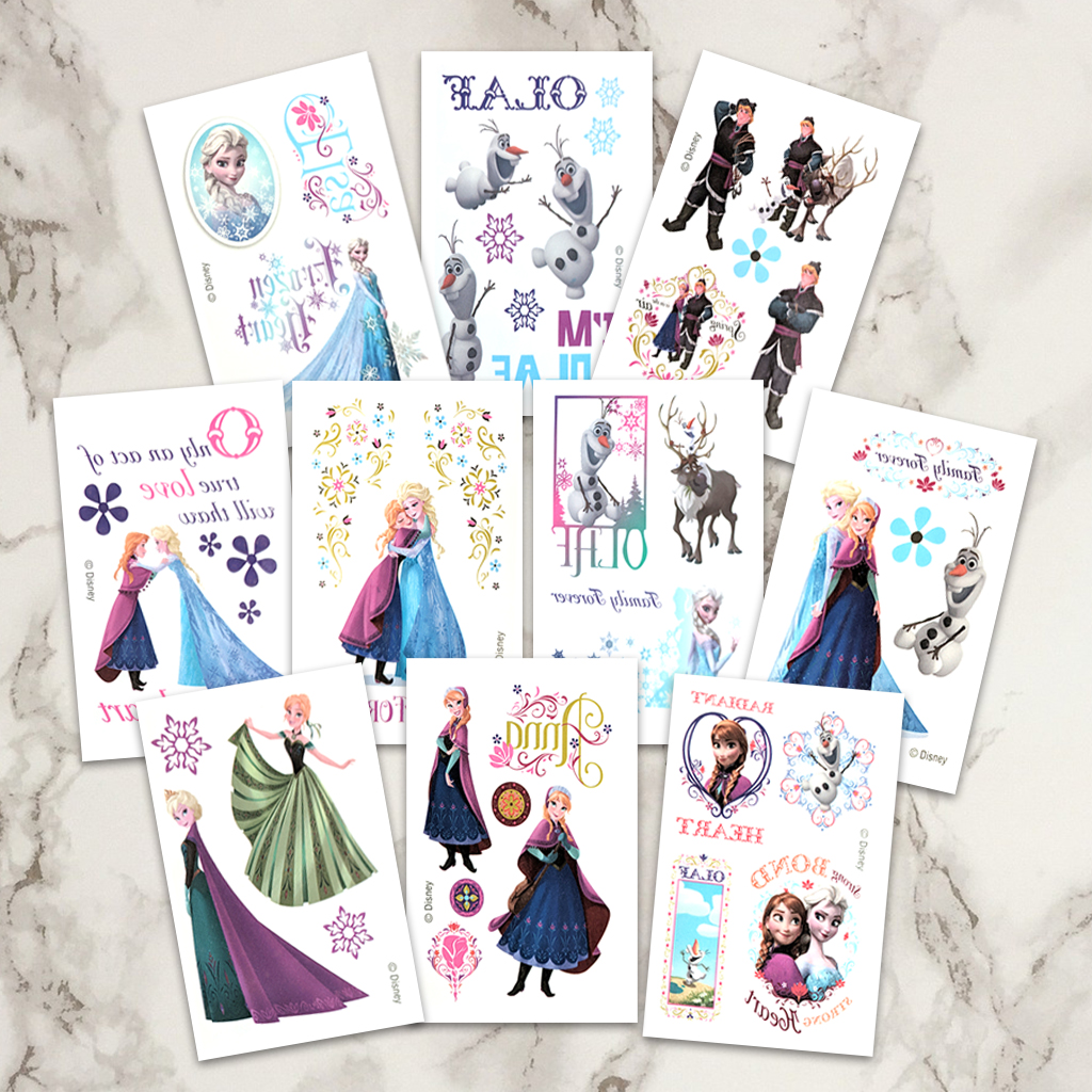 Frozen Birthday Party Temporary Tattoos