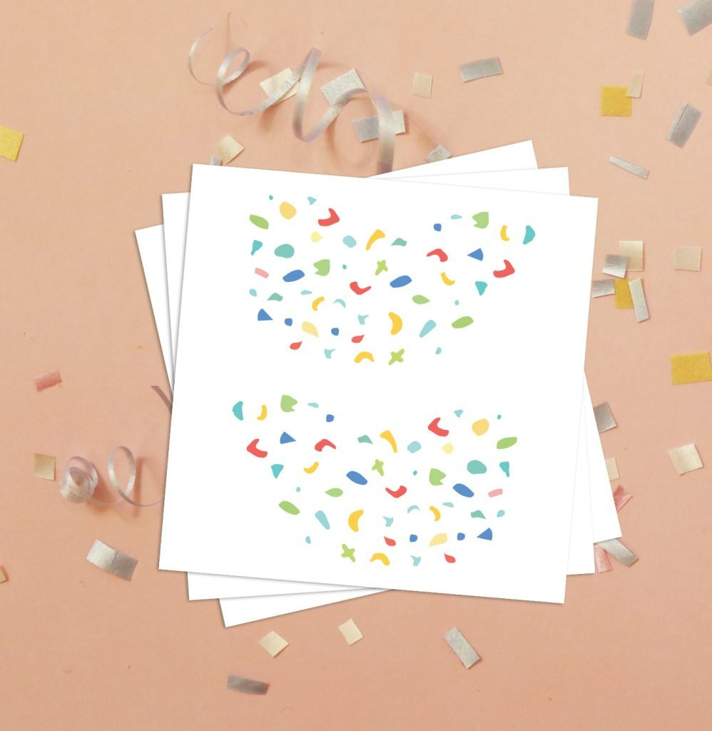 Confetti Freckles Birthday Party Temporary Tattoos